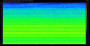Spectre obtenu avec une source sonore puissante, et un micro nu