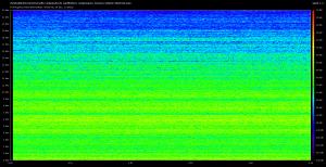 Spectre obtenu avec une source sonore puissante, et un micro équipé d'une bonnette anti-pop
