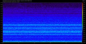 Spectre obtenu avec une source sonore faible, et un micro nu