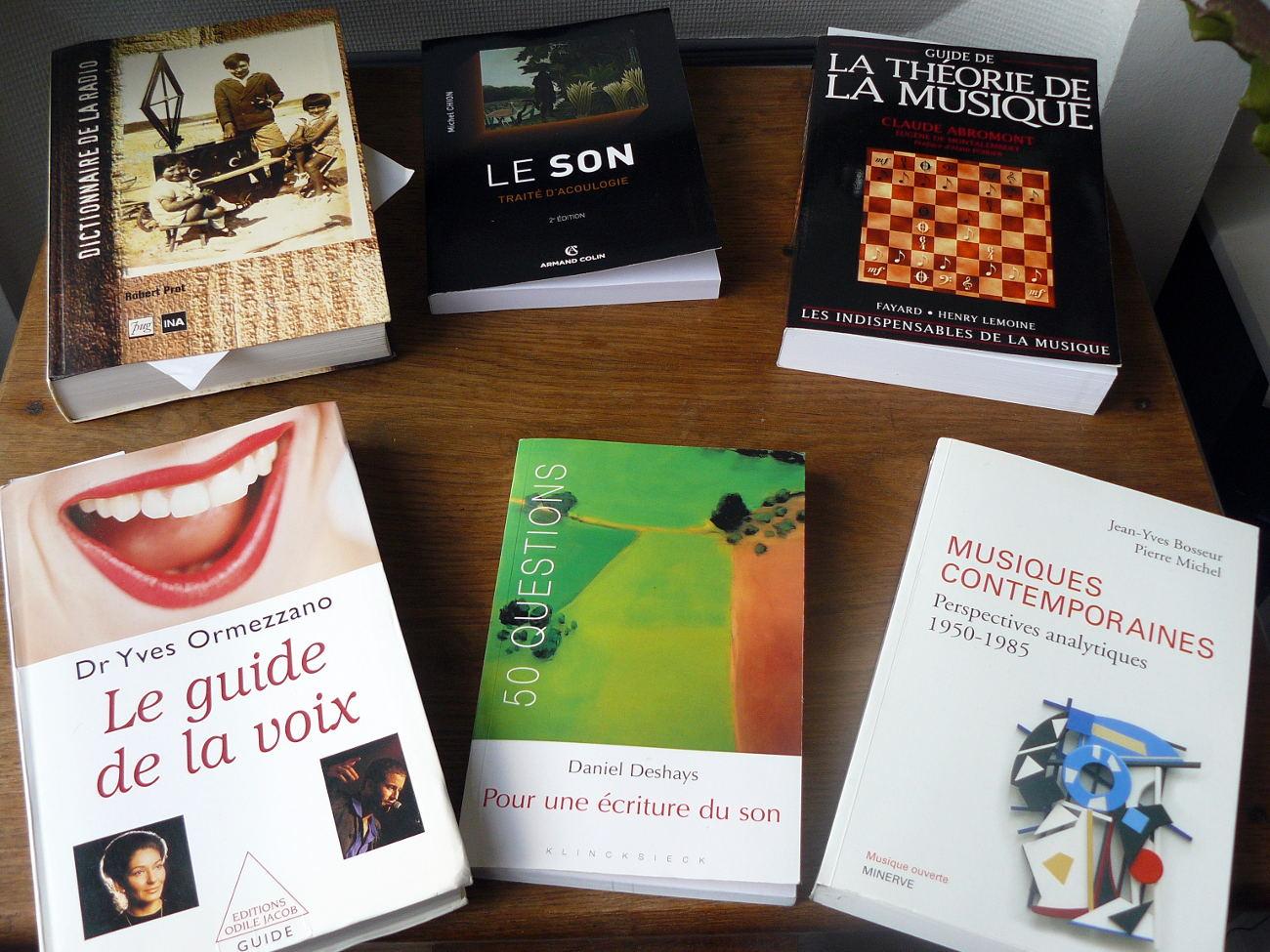 quelques livres sur le son