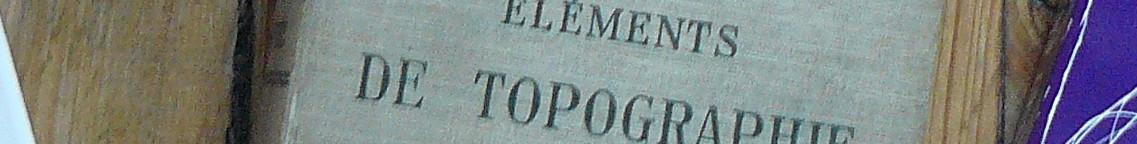 extrait de la couverture d'éléments de topographie