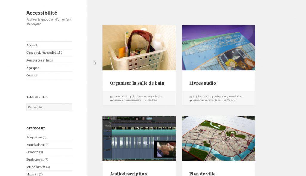 Capture d'écran du blog sur l'accessibilité