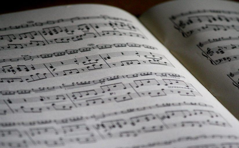 Notes de musique sur une partition