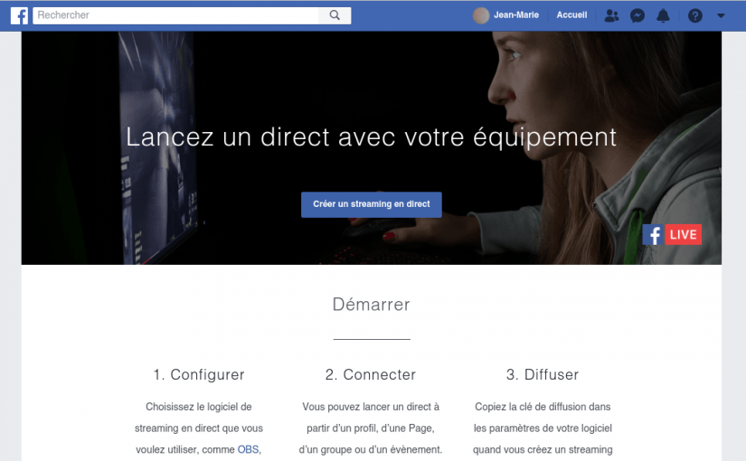 Diffuser une émission de radio via Facebook Live